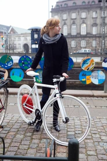 Copenhagen Wheel on Bike