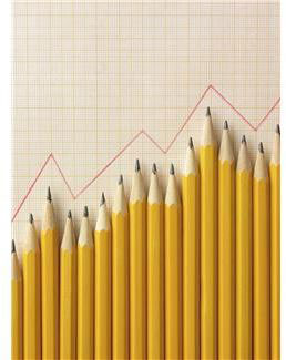 pencils arranged as a graph