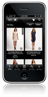iPHone with Shopping App